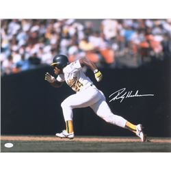 Ricky Henderson Signed Oakland Athletics 16x20 Photo (JSA COA)