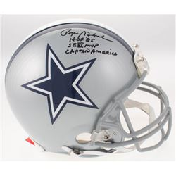 Roger Staubach Signed Dallas Cowboys Full-Size Authentic On-Field Helmet with Multiple Inscriptions