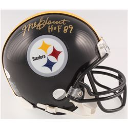 "Mel Blount Signed Pittsburgh Steelers Mini-Helmet Inscribed ""HOF 89"" (JSA COA)"