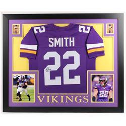Harrison Smith Signed Minnesota Vikings 35x43 Custom Framed Jersey (JSA COA)