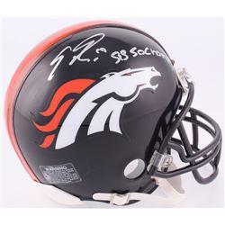 """Emmanuel Sanders Signed Denver Broncos Mini-Helmet Inscribed """"SB 50 Champs"""" (JSA COA)"""