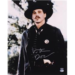 """Val Kilmer Signed """"Tombstone"""" 16x20 Photo Inscribed """"Doc"""" (Beckett COA)"""