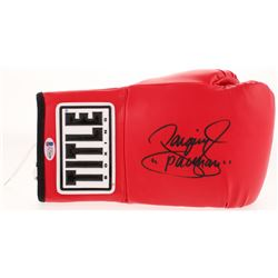 "Manny Pacquiao Signed Title Boxing Glove Inscribed ""Pacman"" (Beckett COA)"