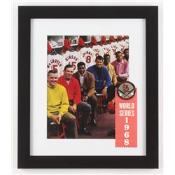 1968 St. Louis Cardinals 13x15 Custom Framed Photo with Vintage World Series Pin