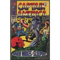 "Vintage 1968 ""Captain America"" Issue #101 Marvel Comic Book"