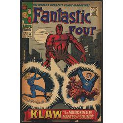 "Vintage 1966 ""Fantastic Four"" Issue #56 Marvel Comic Book"