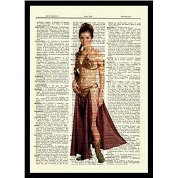 Princess Leia - Carrie Fisher - Star Wars - Unique Original Antique Dictionary Page Art Print (8x10)
