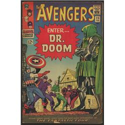 """1966 """"The Avengers"""" Issue #25 Marvel Comic Book"""