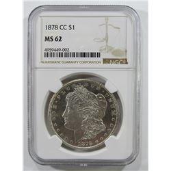 1878-CC Carson City Morgan Silver Dollar $ NGC MS