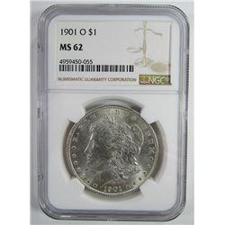 1901-O Morgan Silver Dollar $ NGC MS 62
