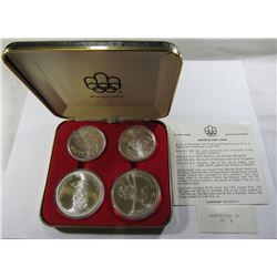 CANADA 1976 OLYMPIC UNC SILVER 4 COIN SET