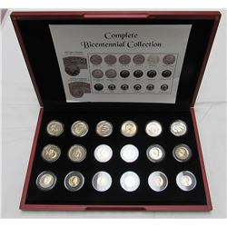 COMPLETE BICENTENNIAL COLLECTION 18 COINS