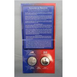 2003 LEGACIES OF FREEDOM TWO COIN SET