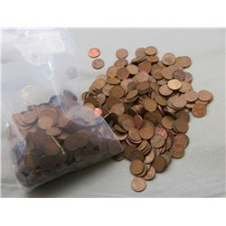 LOT of 1000 WHEAT CENTS MIXED LOT