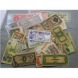 50pc FOREIGN CURRENCY LOT