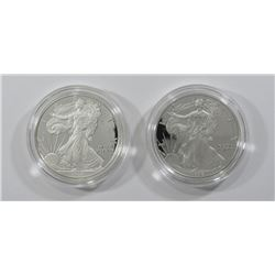 1998 & 2008 PROOF AMERICAN SILVER EAGLE