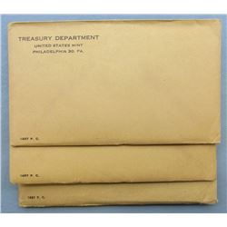 3-1957 U.S. PROOF SETS SEALED