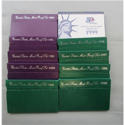 10- U.S PROOF SETS