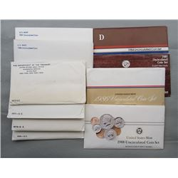 10-U.S. MINT SETS-ALL DIFF; 1969,