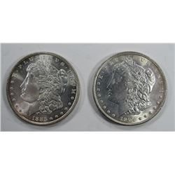 1885 & 1904-O MORGAN SILVER DOLLARS