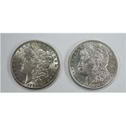 1890 & 1900 MORGAN SILVER DOLLARS