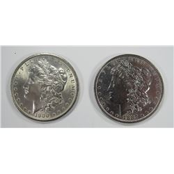 1887 & 1900 MORGAN SILVER DOLLARS