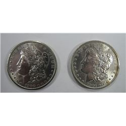 1900-O & 1904-O MORGAN SILVER DOLLARS