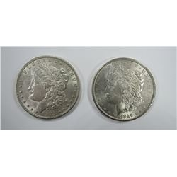 1889 & 1903 MORGAN SILVER DOLLARS