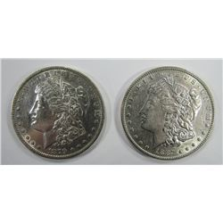 1887 & 1879-O MORGAN SILVER DOLLARS