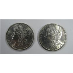 1880 & 1882-S MORGAN SILVER DOLLARS