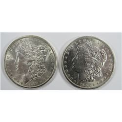 1889 & 1885-O MORGAN SILVER DOLLARS