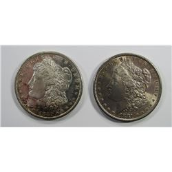 1880-S & 1881-S MORGAN SILVER DOLLARS