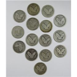 STANDING LIBERTY QTR LOT of 15