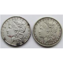 1889 XF & 1889-O VG