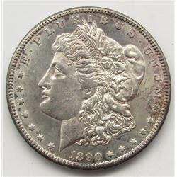 1890-CC MORGAN SILVER DOLLAR AU+