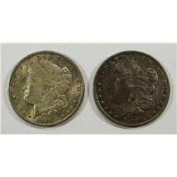 2-1890 MORGAN DOLLARS XF/AU VG TONED