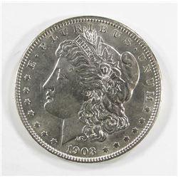 1903 BU BLAST WHITE MORGAN DOLLAR