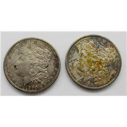2-1900 MORGAN DOLLARS BOTH UNC