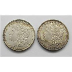 1898-O & 1891-S MORGAN DOLLARS UNC