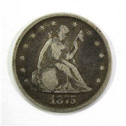 1875 TWENTY CENT PIECE- VG