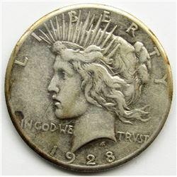 1928 PEACE DOLLAR VG