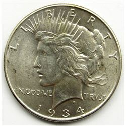 1934 PEACE DOLLAR XF