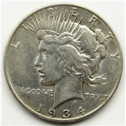 1934-D PEACE DOLLAR FINE