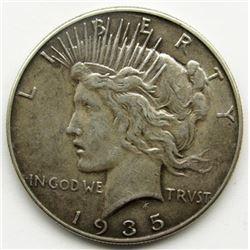 1935 PEACE DOLLAR VF+