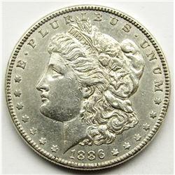 1886 MORGAN DOLLAR XF/AU