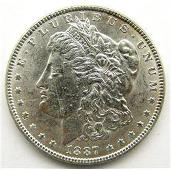 1887 MORGAN DOLLAR BU WHITE