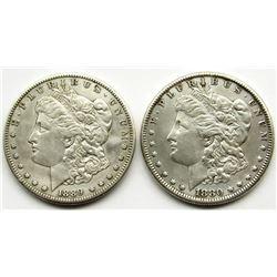 1889-S & 1880-O MORGAN DOLLARS