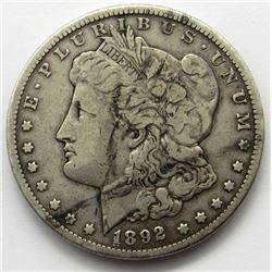 1892-CC MORGAN DOLLAR CIRC