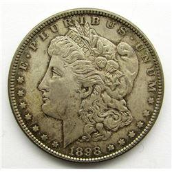 1898 MORGADN DOLLAR UNC TONED
