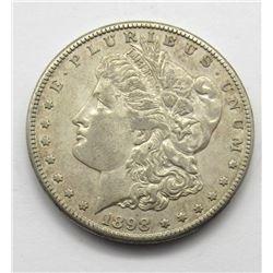 1898-S MORGAN DOLLAR AU+